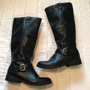 Shoes - Black riding boots size 7